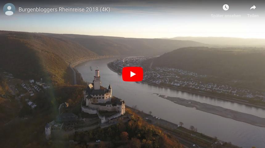 Der Burgenblogger hat ein Video mit Drohnen-Aufnahmen vom Oberen Mittelrheintal veröffentlicht. (Foto: Screenshot des Burgenblogger-Videos)