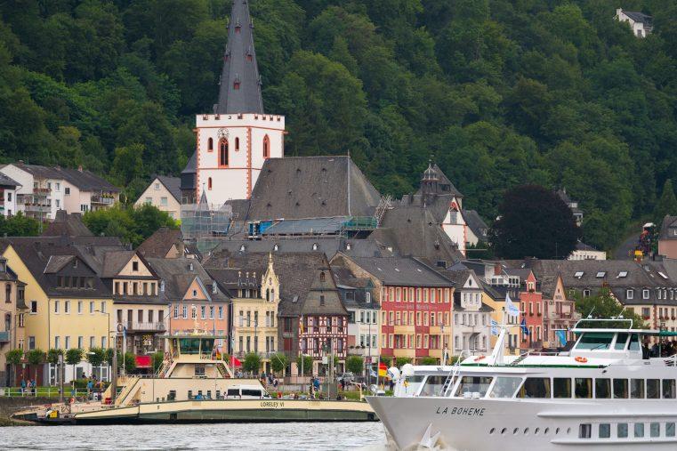 Modellstadt St. Goar – Blick auf die Rheinpromenade. (Foto: Piel)