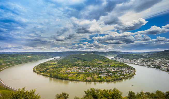 Blick vom Bopparder Hamm auf die Rheinschleife. (Foto: Piel media)