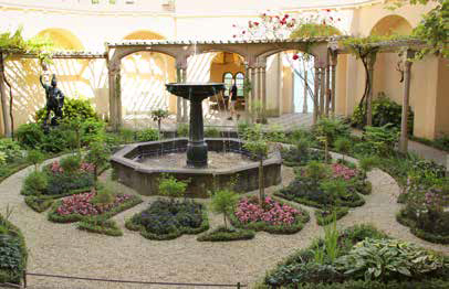 Der Pergolagarten von Schloss Stolzenfels geht auf einen Entwurf von Peter Joseph Lenné zurück. (Foto: EA)