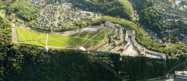 Beispielhaft für die Impulswirkung eines Schwerpunktbereichs – das Festungsplateau Ehrenbreitstein als ein zentraler Bereich der BUGA 2011. (Foto: Thomas Frey)