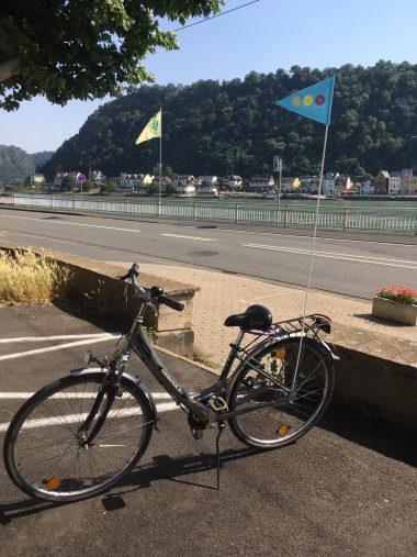 Die BUGA-Fähnchen lassen sich leicht am Fahrrad montieren. (Foto: Nicole Schuh)