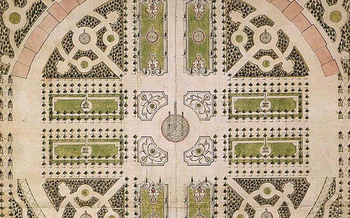 Schwetzingen: Schlossgarten-Entwurf von Johann Ludwig Petri, 1753 (Foto: Staatliche Schlösser und Gärten)