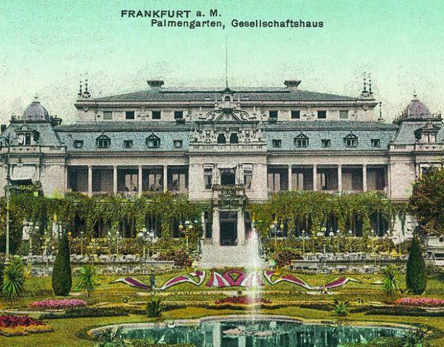 Das alte Gesellschaftshaus im Palmengarten Frankfurt Außenanlagen: Franz Heinrich Siesmayer um 1871