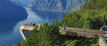 Stegastein, Vattnahalsen Norwegen (Foto: Saunders Architecture)
