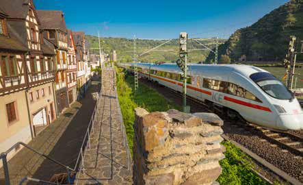 Die Bahnstrecke entlang des Rheins ist eine gute Alternative zum motorisierten Individualverkehr, stellt aber auch eine große Belastung dar. (Foto: Piel media)