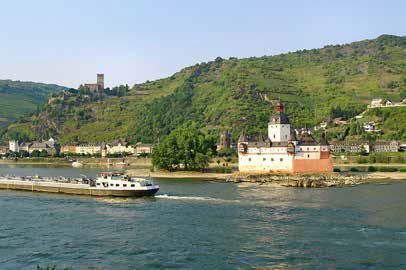 Burg Pfalzgrafenstein, auch die »Pfalz bei Kaub« genannt. (Foto: RMP)