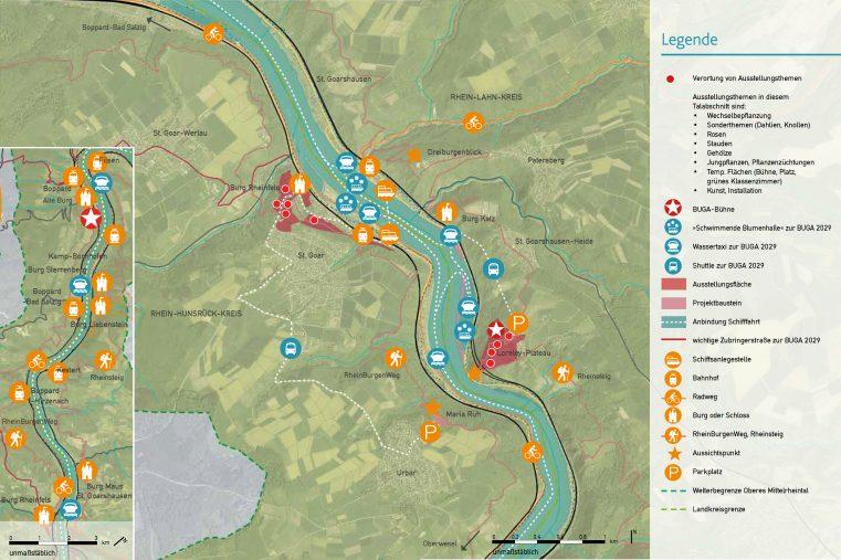 Plan des zentralen Tals.
