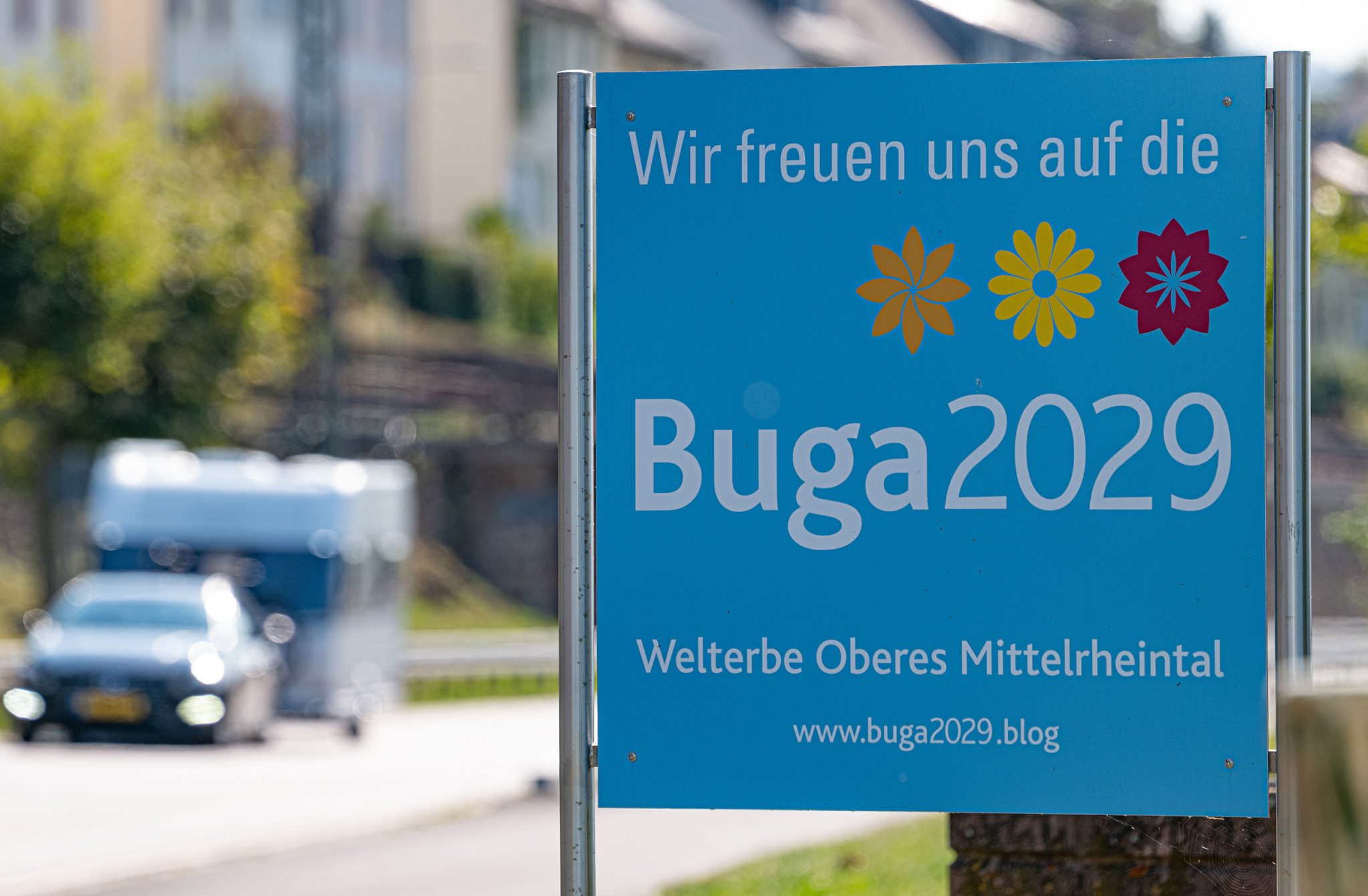 BUGA-Schild Lorchhausen