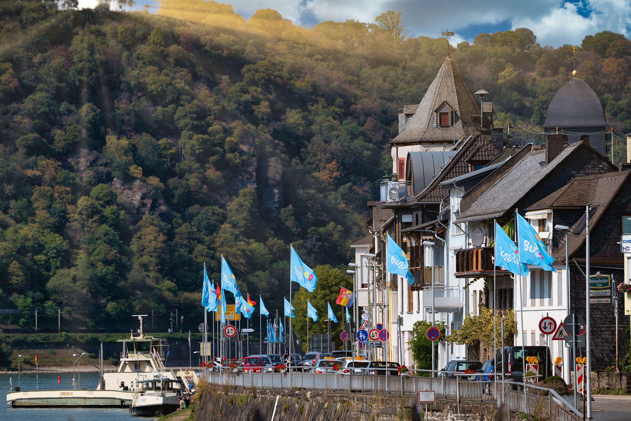 BUGA-Fahnen am Mittelrhein